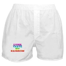 Come Taste My Rainbow Boxer Shorts