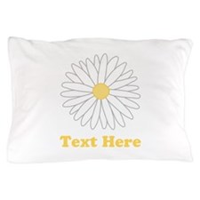 Flower with Custom Text. Pillow Case