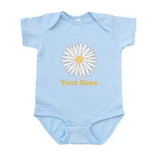 Flower with Custom Text. Infant Bodysuit
