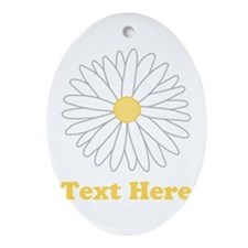 Flower with Custom Text. Ornament (Oval)