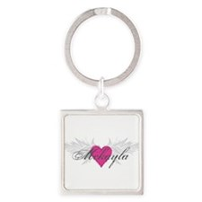 Mckayla-angel-wings.png Square Keychain