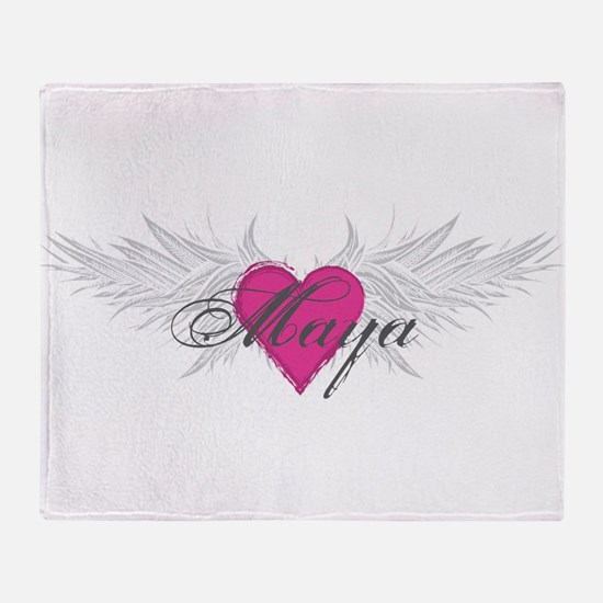 Maya-angel-wings.png Throw Blanket