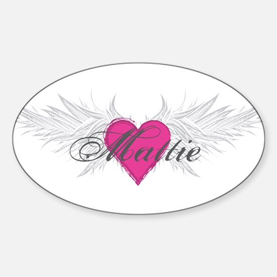 Mattie-angel-wings.png Sticker (Oval)