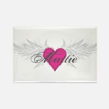 Mattie-angel-wings.png Rectangle Magnet