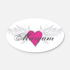 Maryam-angel-wings.png Oval Car Magnet