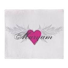Maryam-angel-wings.png Throw Blanket