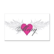 Mary-angel-wings.png Rectangle Car Magnet
