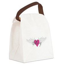 Mary-angel-wings.png Canvas Lunch Bag