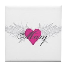 Mary-angel-wings.png Tile Coaster