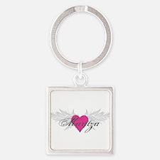 Maritza-angel-wings.png Square Keychain