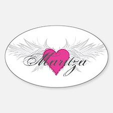 Maritza-angel-wings.png Sticker (Oval)