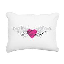 Marisol-angel-wings.png Rectangular Canvas Pillow