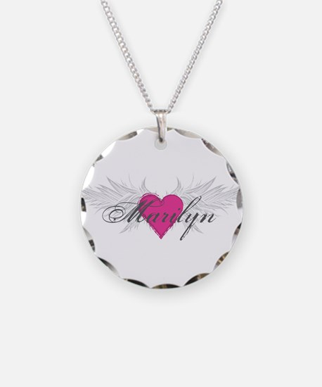 Marilyn-angel-wings.png Necklace Circle Charm