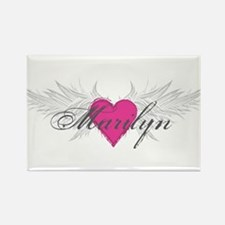 Marilyn-angel-wings.png Rectangle Magnet