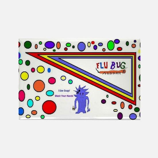 Flu Use Soap Rectangle Magnet