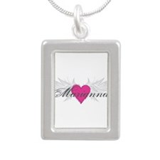 Marianna-angel-wings.png Silver Portrait Necklace
