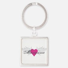 Marianna-angel-wings.png Square Keychain