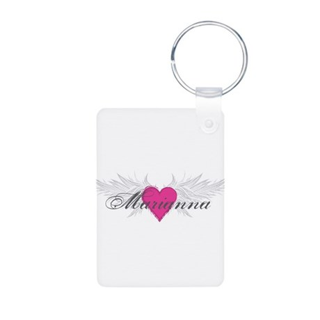 Marianna-angel-wings.png Aluminum Photo Keychain