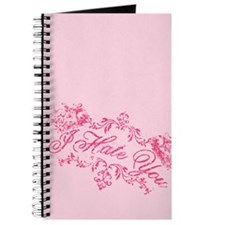 Fancy Pink I Hate You Journal