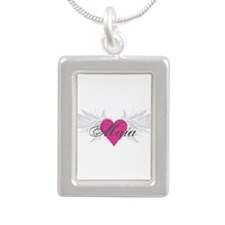 My Sweet Angel Maia Silver Portrait Necklace