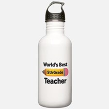 5th Grade Teacher pencil Water Bottle