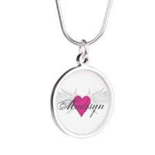My Sweet Angel Madisyn Silver Round Necklace