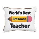 3rd Grade Teacher (Worlds Best) Rectangular Canvas