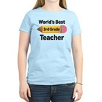 3rd Grade Teacher (Worlds Best) Women's Light T-Sh