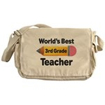 3rd Grade Teacher (Worlds Best) Messenger Bag