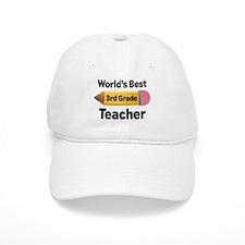 3rd Grade Teacher (Worlds Best) Baseball Cap