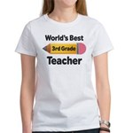 3rd Grade Teacher (Worlds Best) Women's T-Shirt