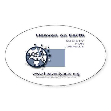 Heaven on Earth Oval Sticker