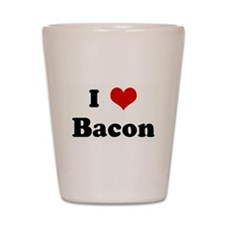 Cute I love bacon Shot Glass