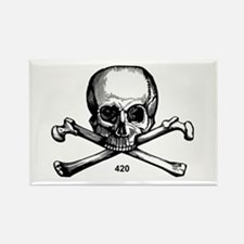 420 Pirate Rectangle Magnet