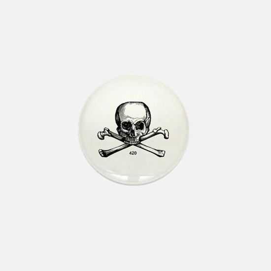 420 Pirate Mini Button (10 pack)
