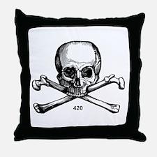 420 Pirate Throw Pillow