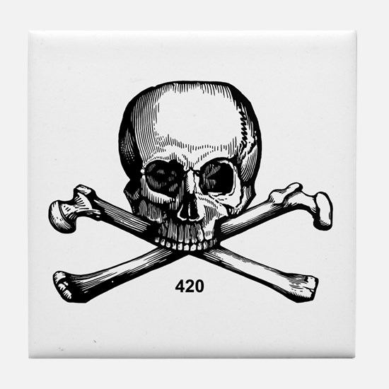 420 Pirate Tile Coaster
