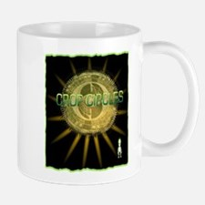 cropcircle little alien grey Mug