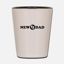 New Dad with Footprints Shot Glass