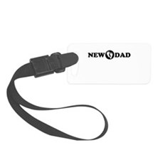 New Dad with Footprints Luggage Tag