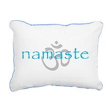Om Namaste Rectangular Canvas Pillow