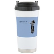 Socks off, Condom on Travel Coffee Mug
