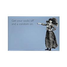 Socks off, Condom on Rectangle Magnet