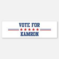 Vote for KAMRON Bumper Bumper Bumper Sticker