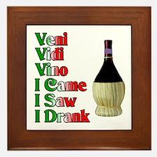 Veni Vidi Vino Framed Tile