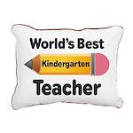 Kindergarten Teacher (Best) Rectangular Canvas Pil