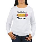 Kindergarten Teacher (Best) Women's Long Sleeve T-