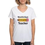 Kindergarten Teacher (Best) Women's V-Neck T-Shirt