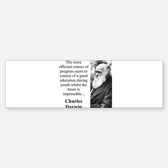 The More Efficient Causes - Charles Darwin Car Car Sticker