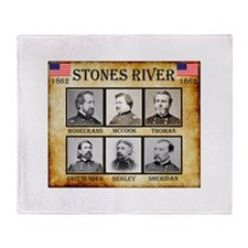 Stones River - Union Throw Blanket